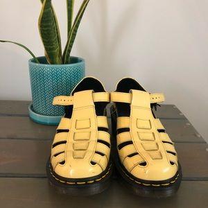 Super Rare Yellow Doc Marten sandals/shoes - comfy